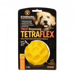 Мячик кормушка «Treat Dispensing Tetraflex» medium для овчарок - TT22